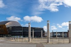 Wales Millenium Centre, Roald Dahl Plass and the Pierhead - Cardiff Bay