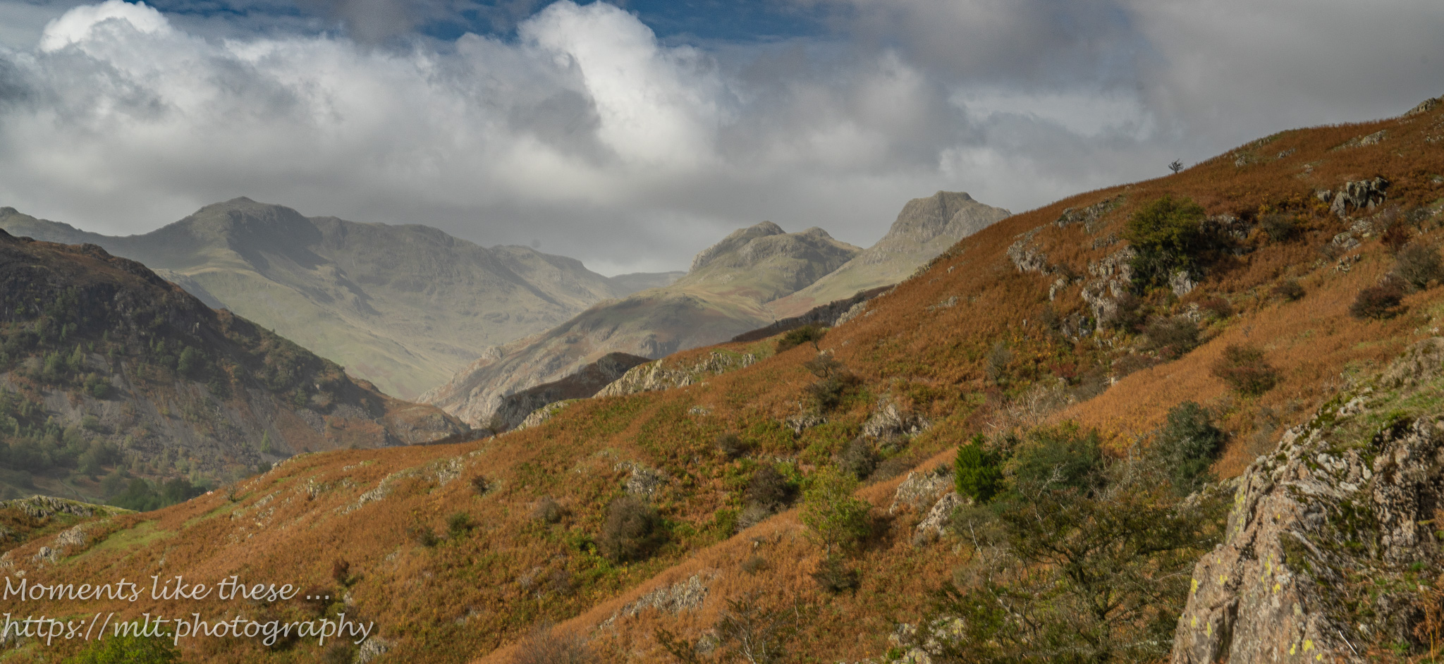Langdale Pikes from Chapel Stile