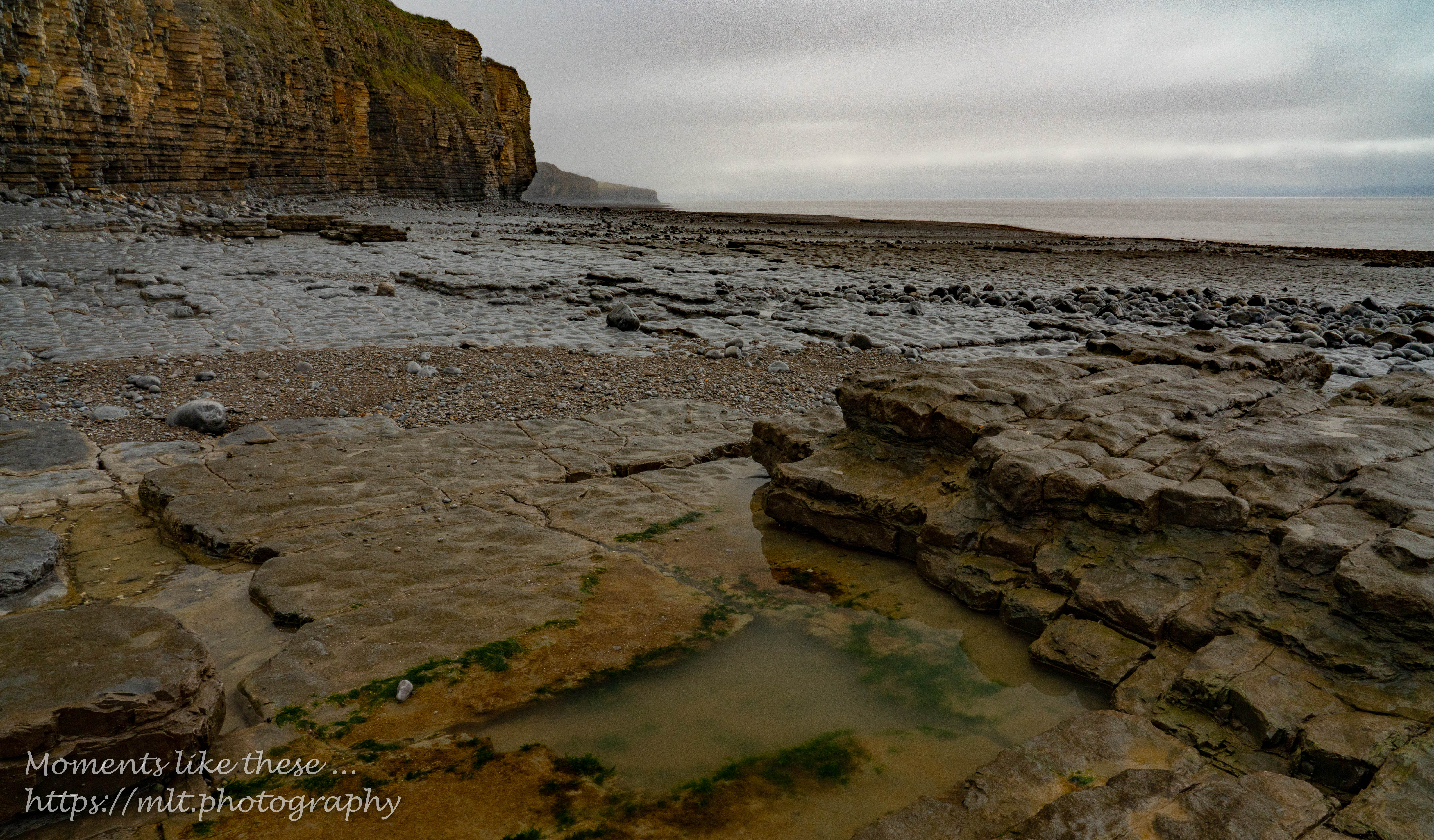 At low tide as the mist clears