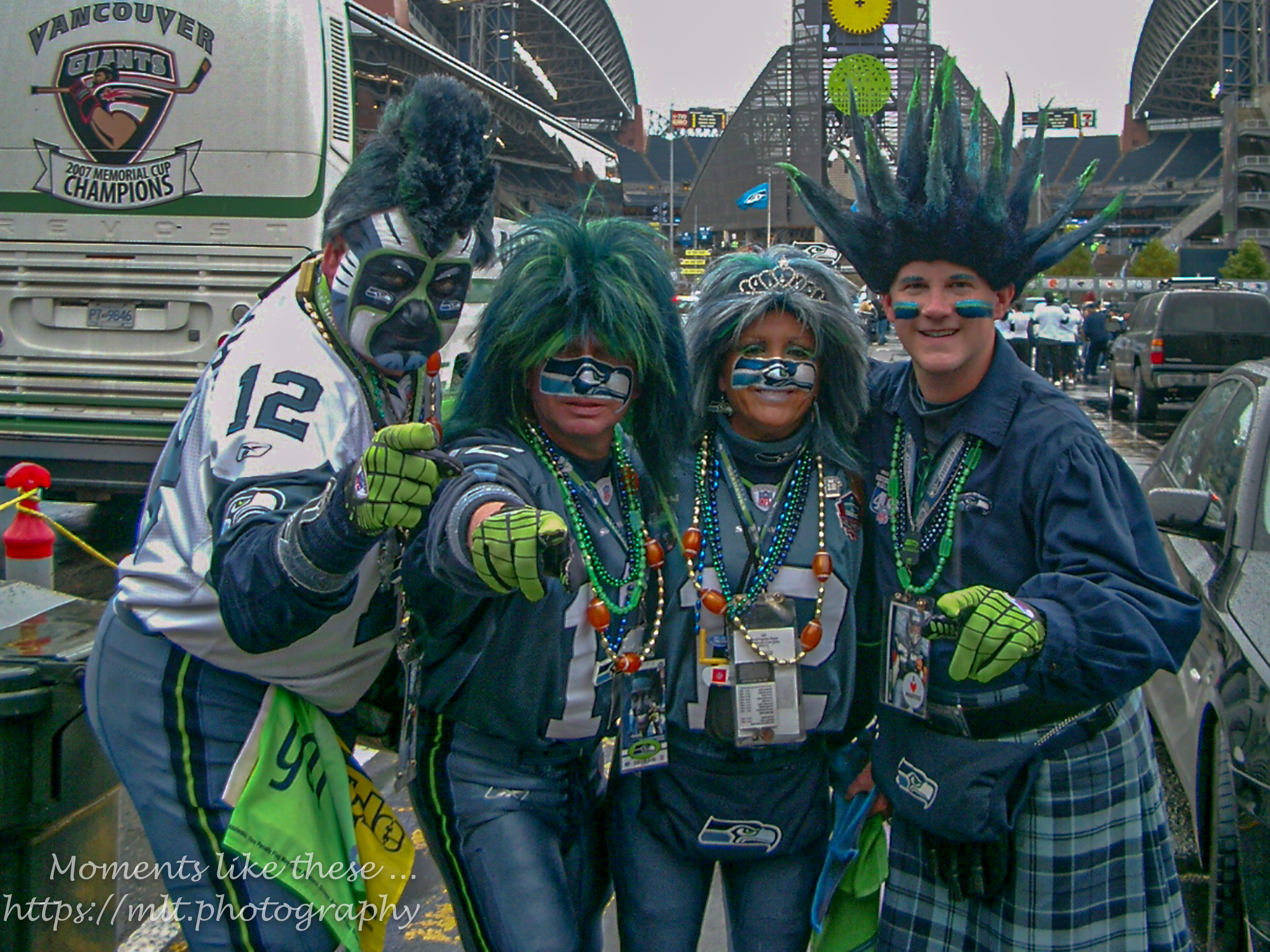 "Mr & Mrs Seahawk and ""family"""