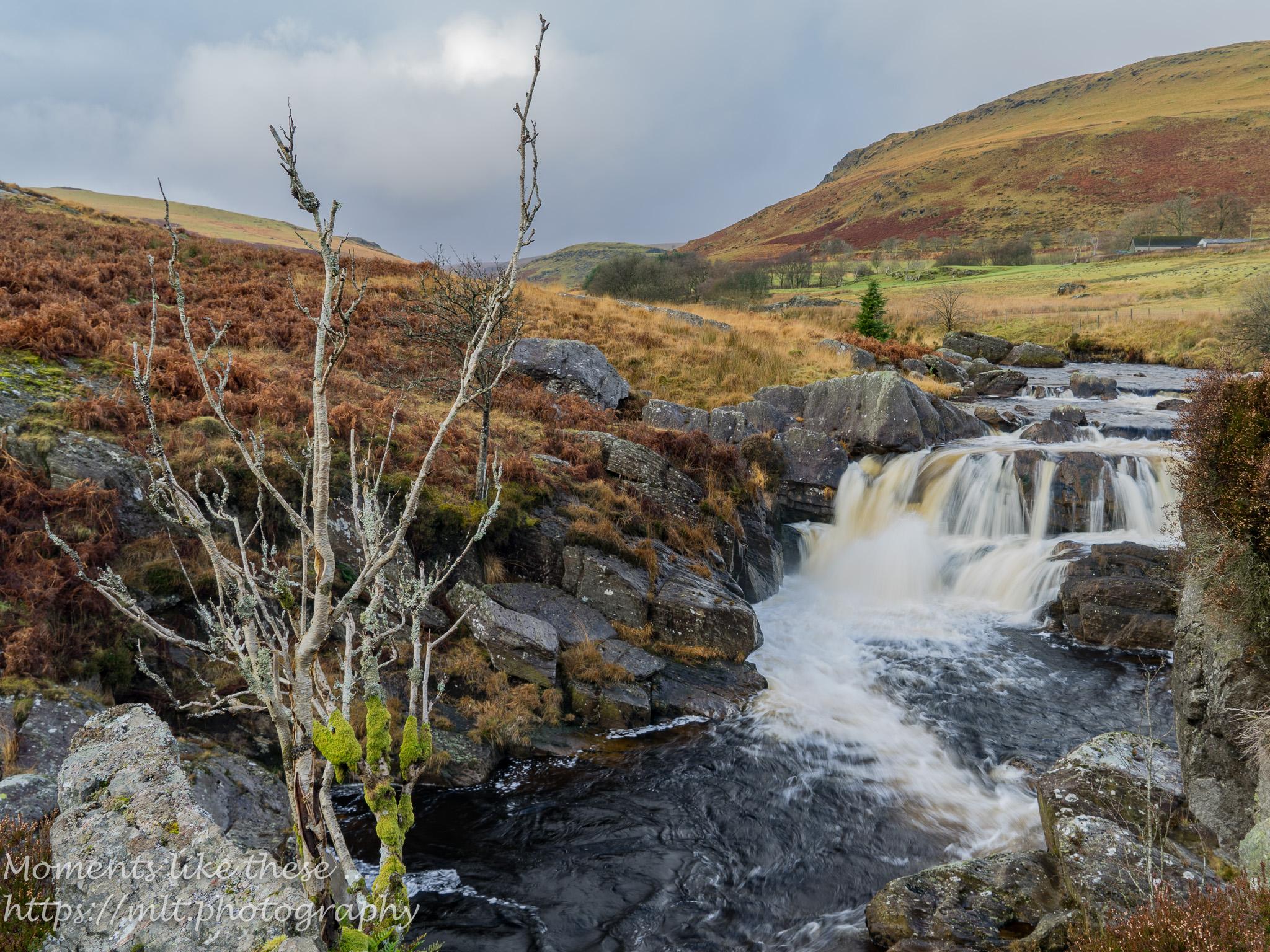 Afon Claerwen below the dam