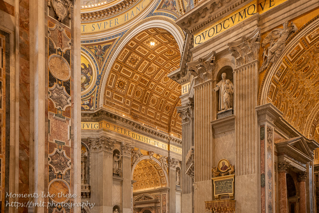 Detail of St Peter\'s Basilica