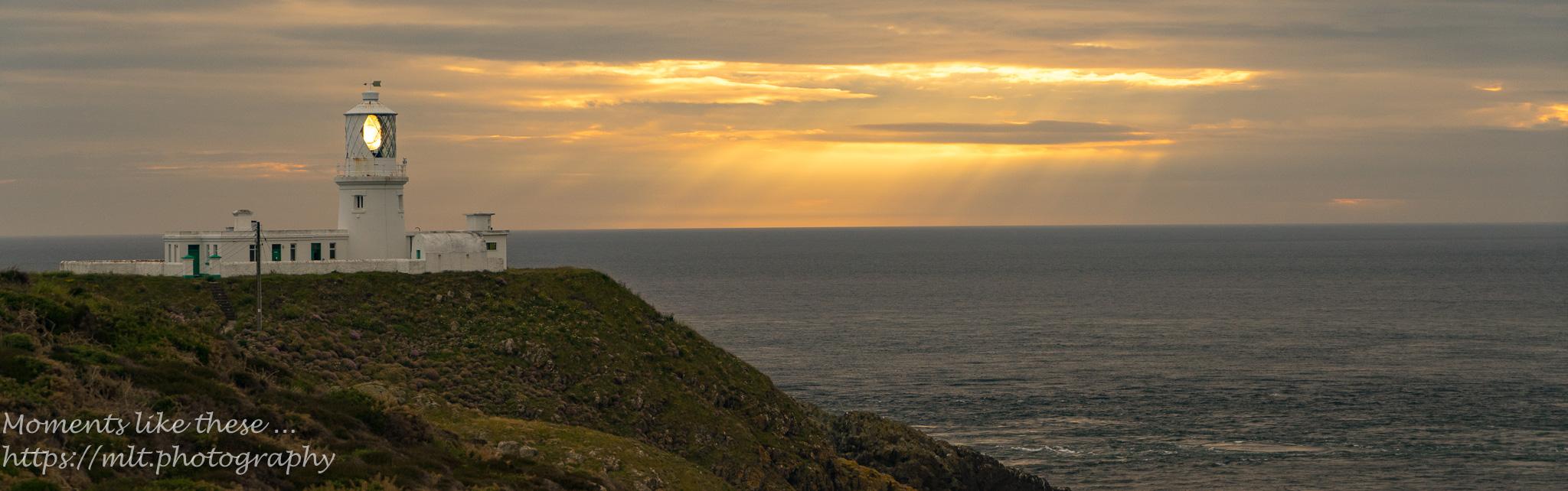 Strumble Head Lighthouse at dusk