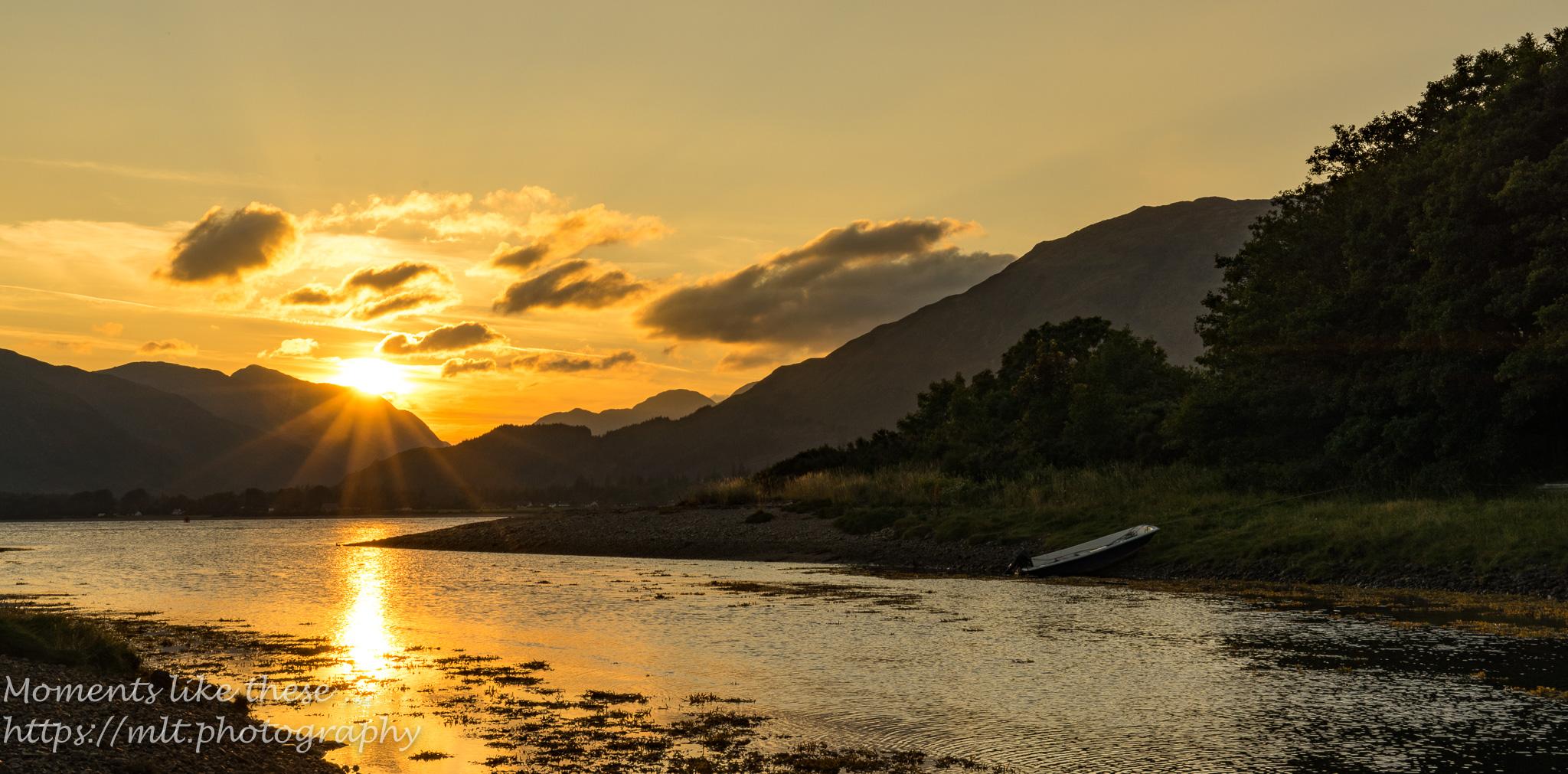 Sunset over Loch Linnhie